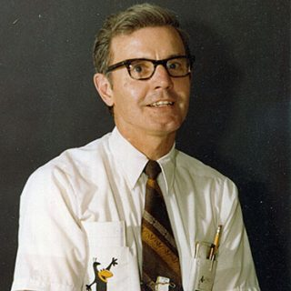 A color portrait of Dick Baker