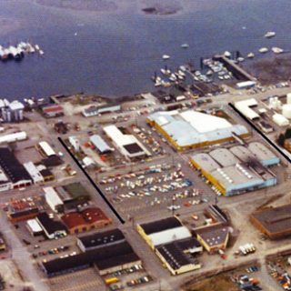 Aerial view of the Sea Mart building.