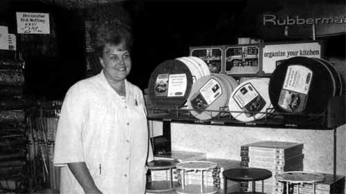 Doris Bieker in the houseware department