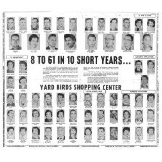 8 to 61 in 10 Short Years... Yard Birds Shopping Center