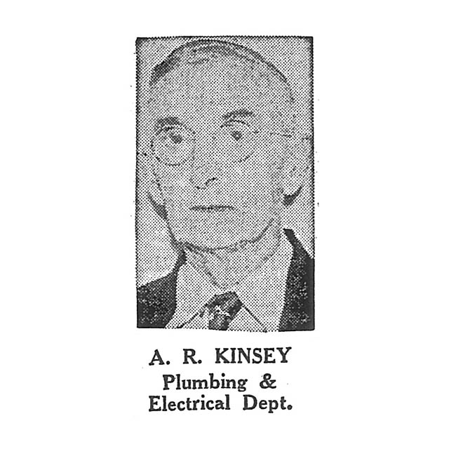 A R Kinsey Plumbing and Electrical Department
