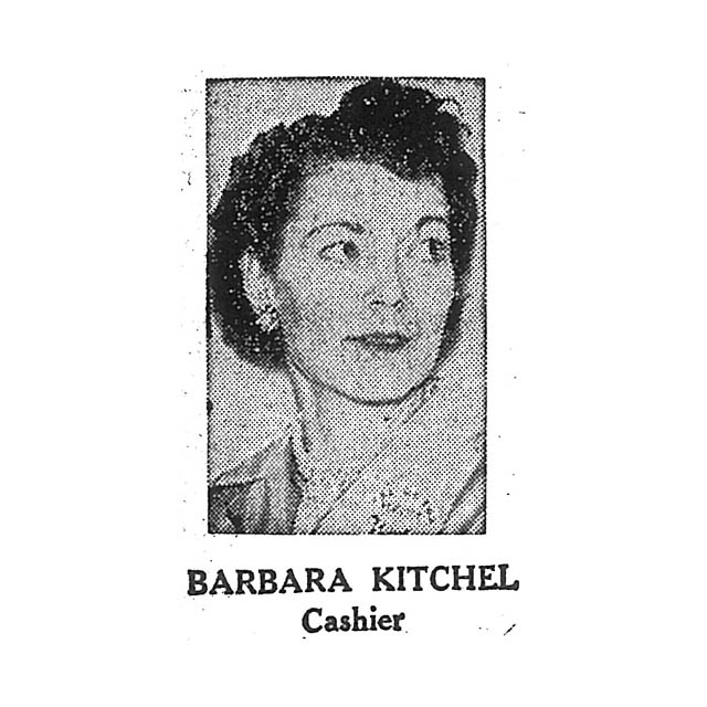 Barbara Kitchel Cashier
