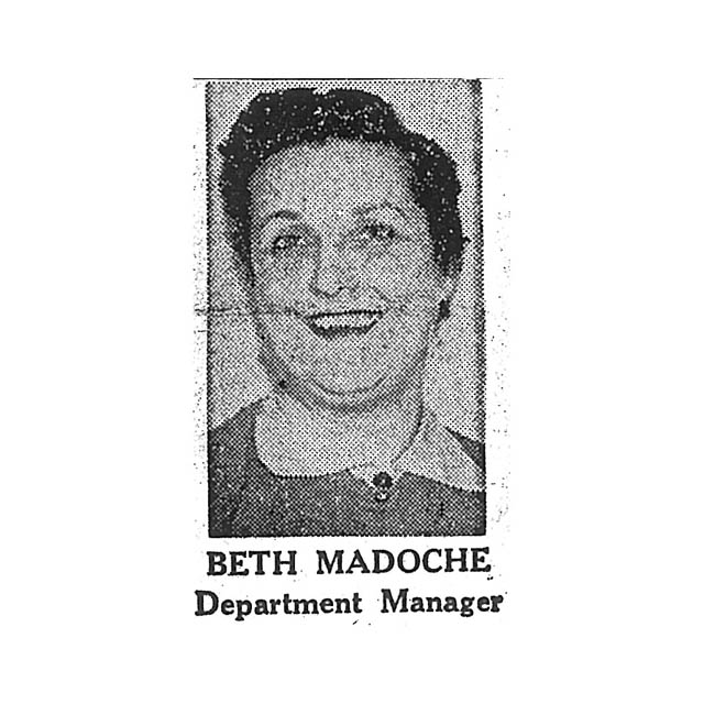 Beth Madoche Department Manager
