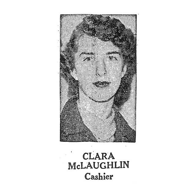 Clara McLaughlin Cashier