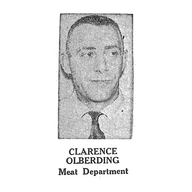 Clarence Olberding Meat Department