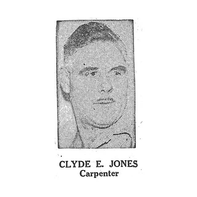 Clyde E Jones Carpenter