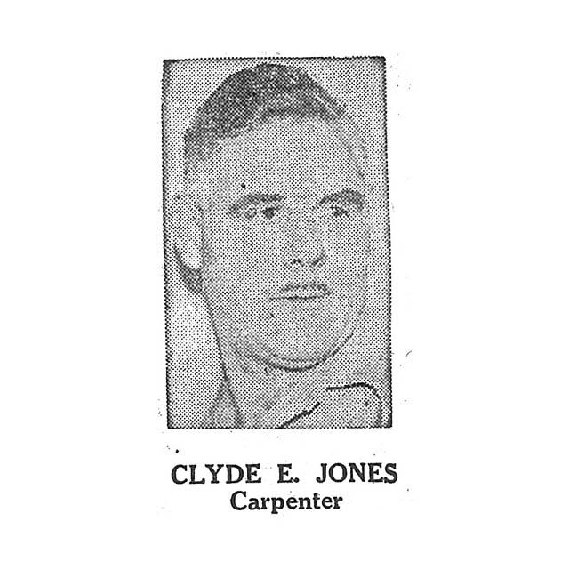 Clyde E Jones Carpenter