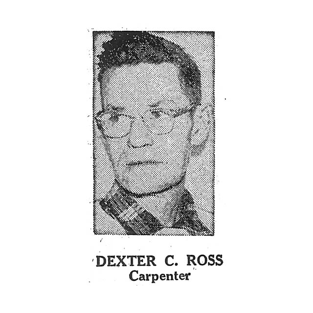 Dexter C Ross Carpenter