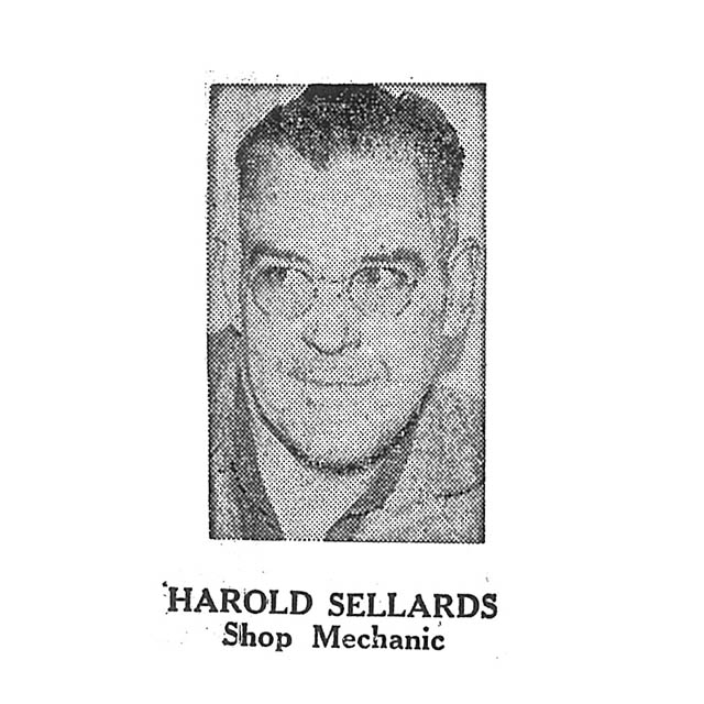 Harold Sellards Shop Mechanic
