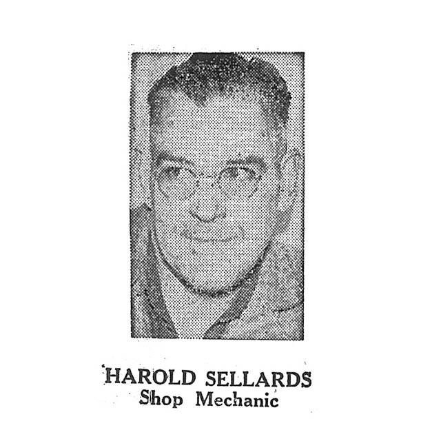 Harold Sellards Shop Mechanic