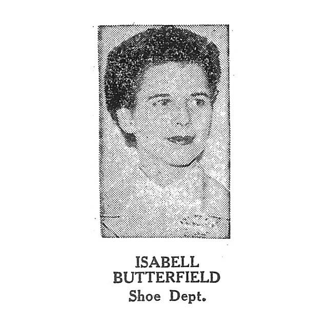 Isabell Butterfield Shoe Department