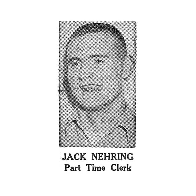 Jack Nehring Part Time Clerk
