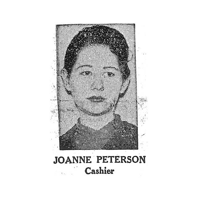 Joanne Peterson Cashier