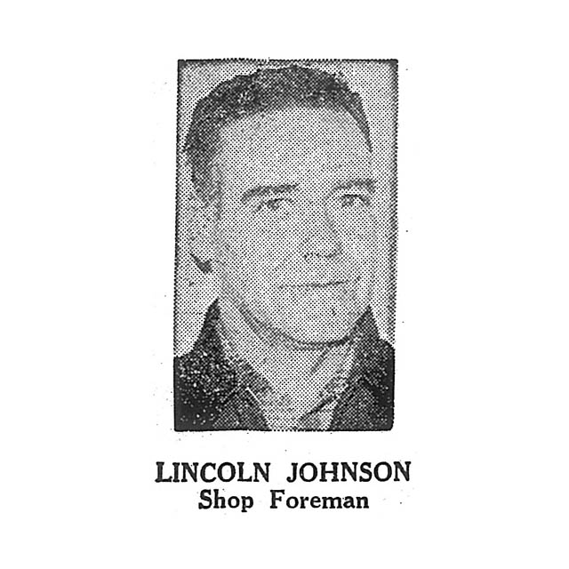 Lincoln Johnson Shop Foreman