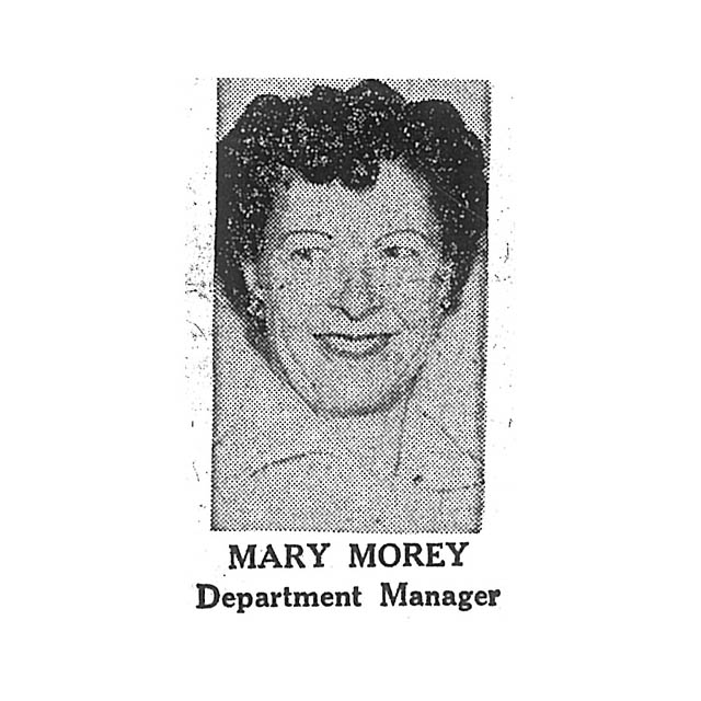Mary Morey Department Manager