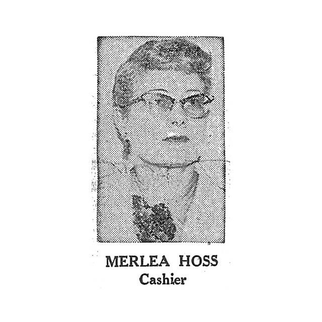 Merlea Hoss Cashier