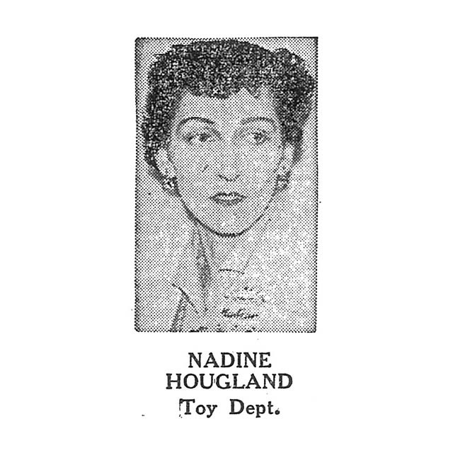 Nadine Hougland Toy Department