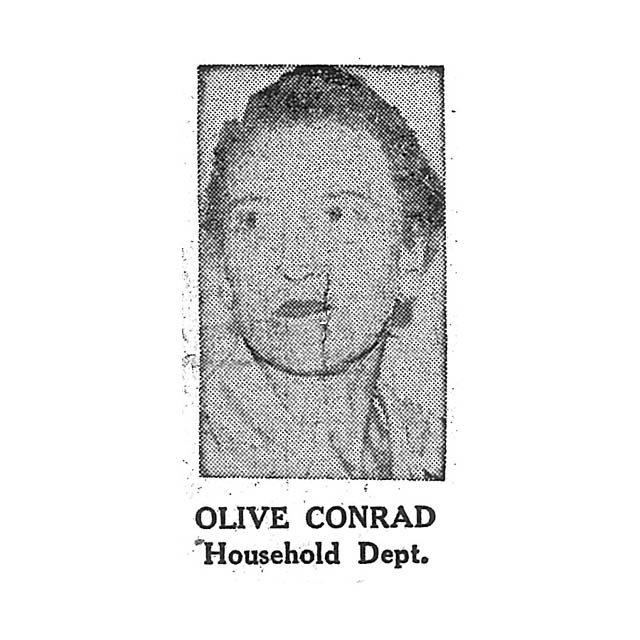 Olive Conrad Household Department
