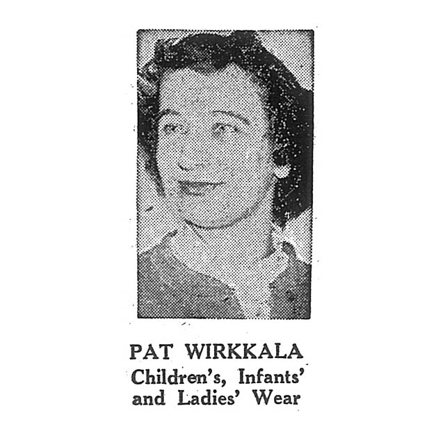 Pat Wirkkala Children's, Infants' and Ladies' Wear