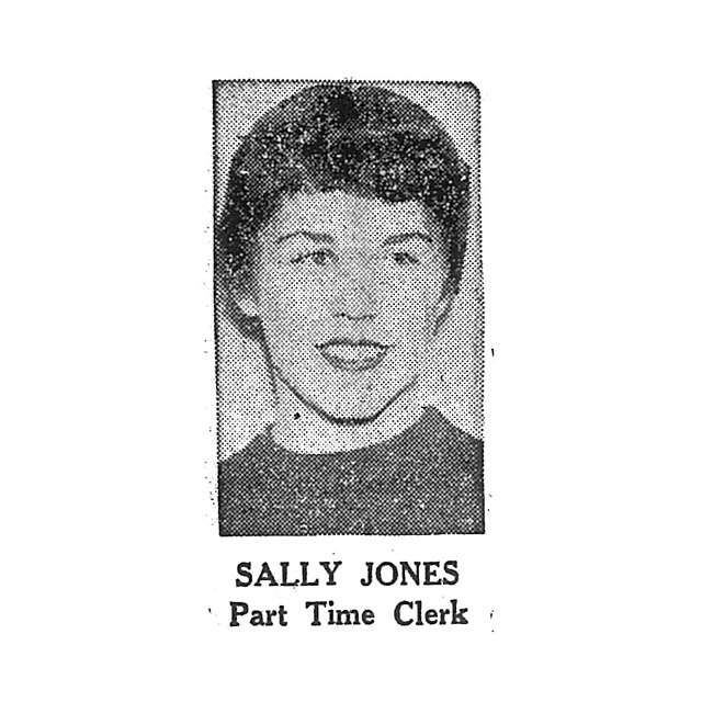 Sally Jones Part Time Clerk