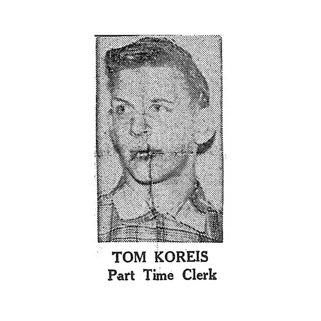 Tom Koreis Part Time Clerk