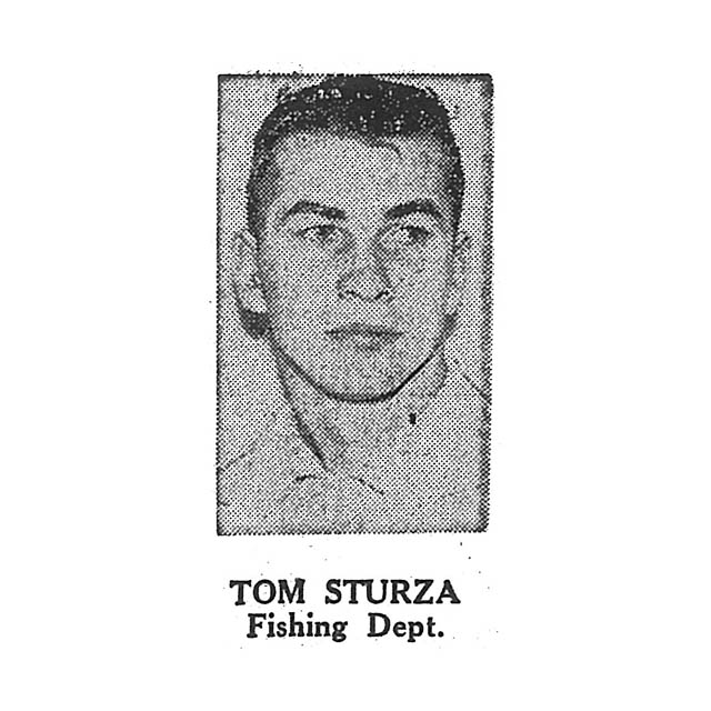 Tom Sturza Fishing Department