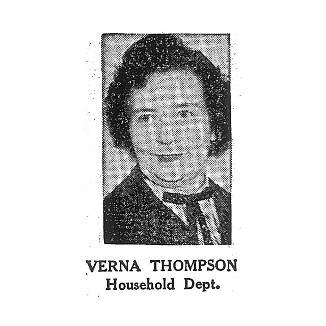 Verna Thompson Household Department