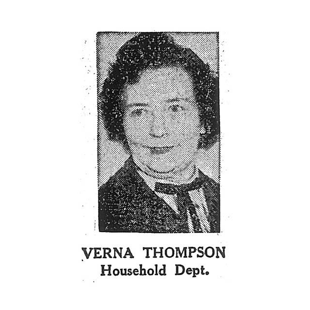 Verna Thompson Household Department